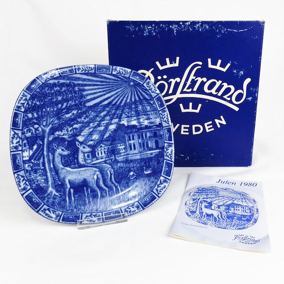 Limited Edition RARE 1980 Julen Rorstrand Sweden Christmas Plate
