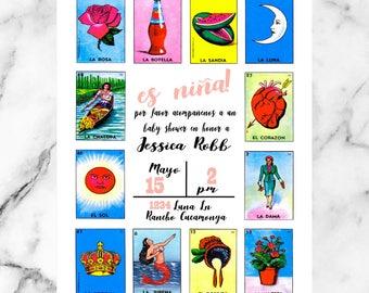 LOTERIA Baby Shower/ La Dama/ El Catrin/ Birthday