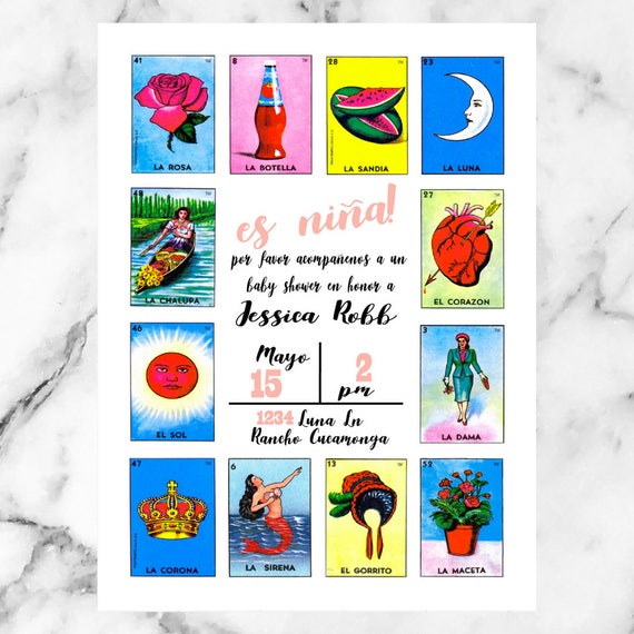 Loteria Baby Shower La Dama El Catrin Birthday Etsy