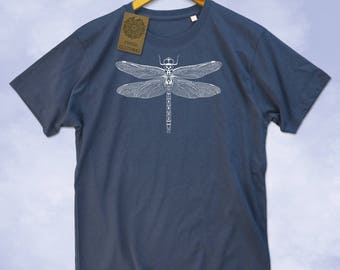 Dragonfly Insect Print Mens T-Shirt