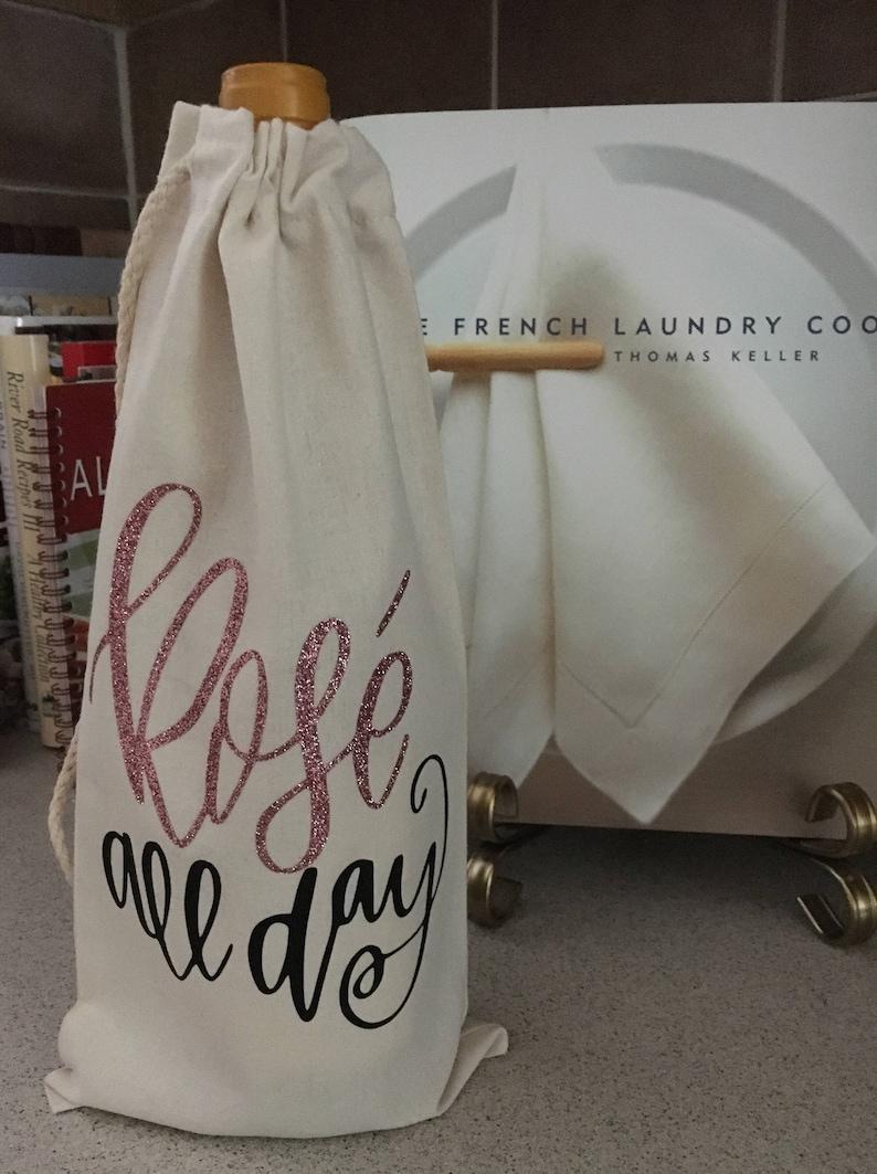 a101aea9e27 Rose all day Wine bag, Wine Bag, Rose all day, rose, wine, Draw String Wine  Bag, Bottle Holder, Wine Bottle Holder, rose wine bag