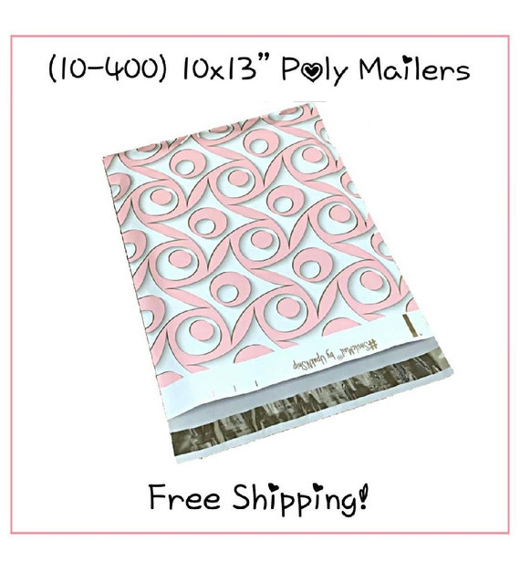 **FREE SHIPPING!** Self Seal Adhesive Designer Poly Mailers 25-400 Pack 6x9 Cactus with Matching Thank You Stickers