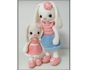 Amigurumi pattern  bunny sisters