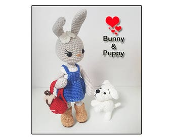 amigurumi pattern Bunny and Puppy