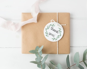 Thank You Tags // Greenery // Bridal Shower // Baby Shower // Gift Tags // Thank You // Printable file // Instant Download
