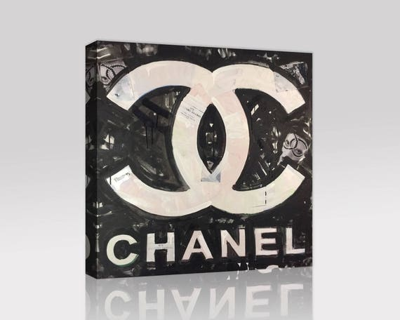 Chanel Monogram Modern Art Logo Pop Canvas