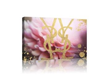 YSL Yves Saint Laurent Stretched Framed Canvas Print Art