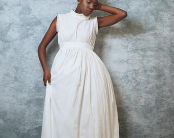Swiss Dot Cotton Gown