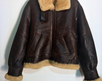 9ac884c62b39 Vintage B-3 Shearling Sheepskin Leather Jacket Not Vintage Schott B-3 Shearling  Sheepskin Leather Jacket Schott RBC McCoys Harley Davidson