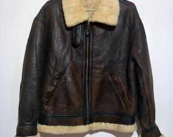 e7f7b0df6 B3 shearling jacket | Etsy