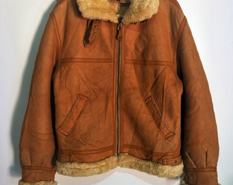 4dbc88eb457e Vintage Beautiful color B-3 Lambskin Jacket Not Avirex Schott RBC McCoys  Harley Davidson