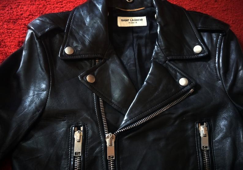 bebd85302 Saint Laurent Paris Motorcycle leather Jacket not Schott perfecto gucci  chanel balenciaga Supreme