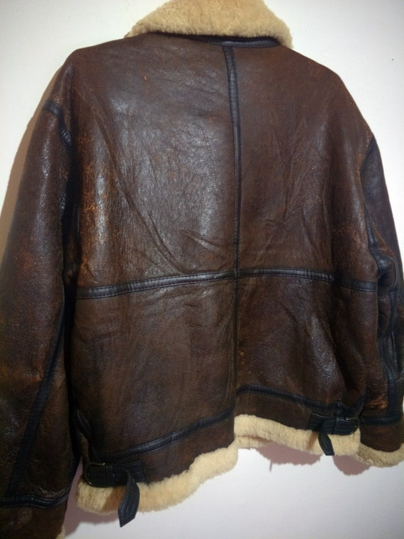 48c92d6e0 Vintage B-3 Shearling Sheepskin Leather Jacket Not Vintage Schott B-3  Shearling Sheepskin Leather Jacket Schott RBC McCoys Harley Davidson
