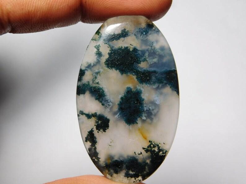 mm Tree Quartz Gemstone,Natural Top Quality Tree Quartz Loose Stone,Handmade Semi Precious 51Cts. Amazing Tree Quartz cabochon,AAA 47X27