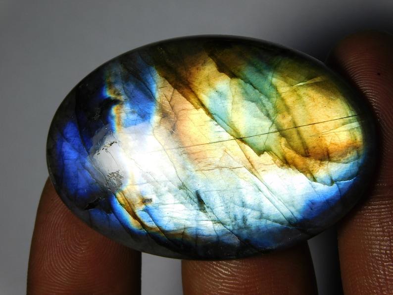 52X35 mm Amazing Labradorite Spectrolite Cabochons Spectrolite Gemstone Natural Top Quality Handmade Labradorite Loose Stone 112Cts.