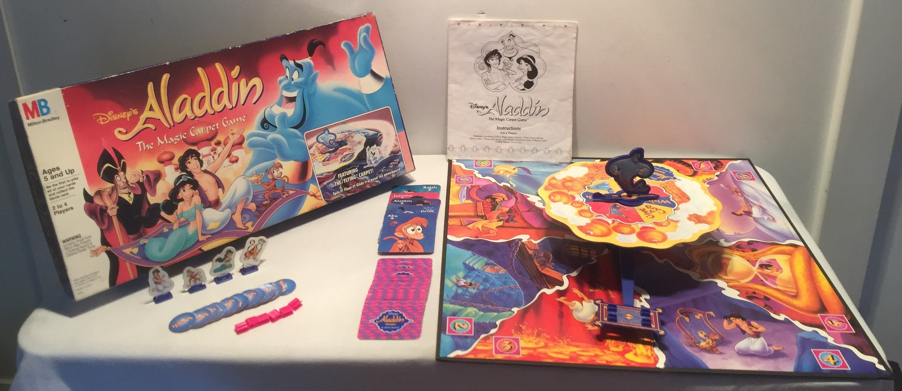 1992 Vintage Walt Disney's Aladdin The Magic Carpet Game Complete in Great Condition FREE SHIPPING