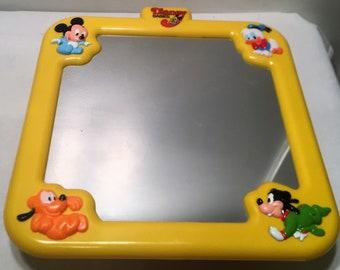 Vintage 1986 Disney Babies Crib Playpen Mirror Great Condition FREE SHIPPING