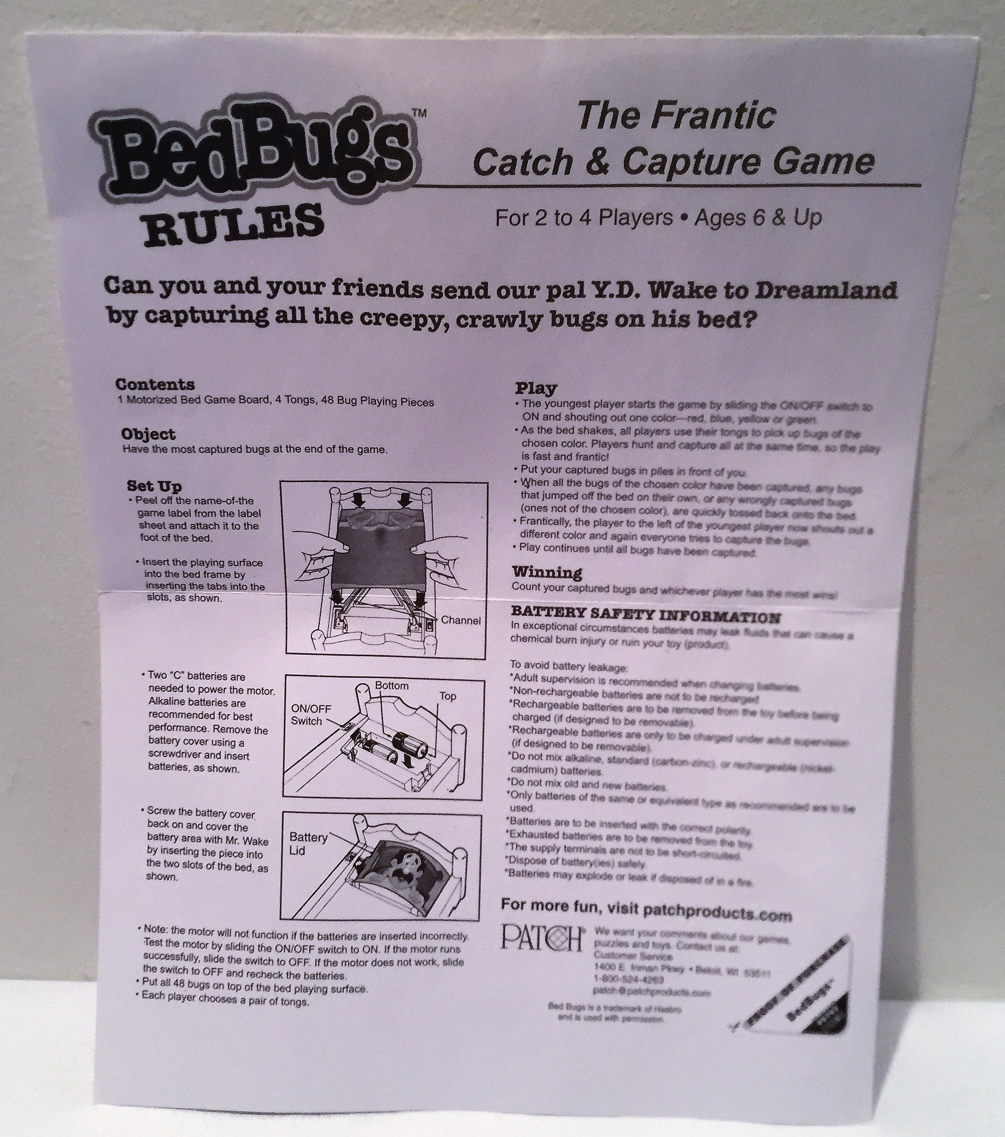 Bed Bugs Game Complete In Great Condition Free Shipping