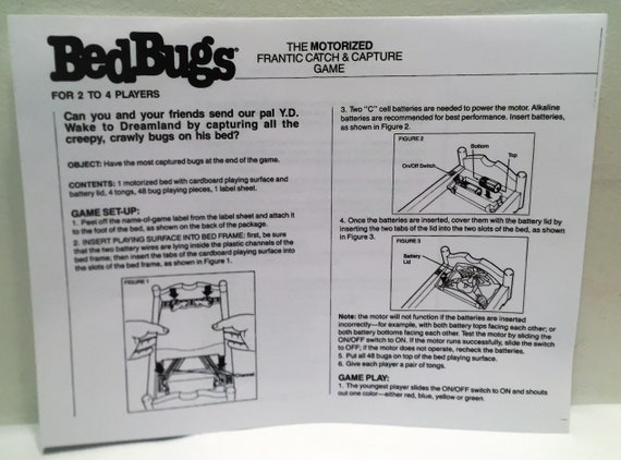 Bed Bugs Motorized Board Game Working Complete Great Condition Etsy