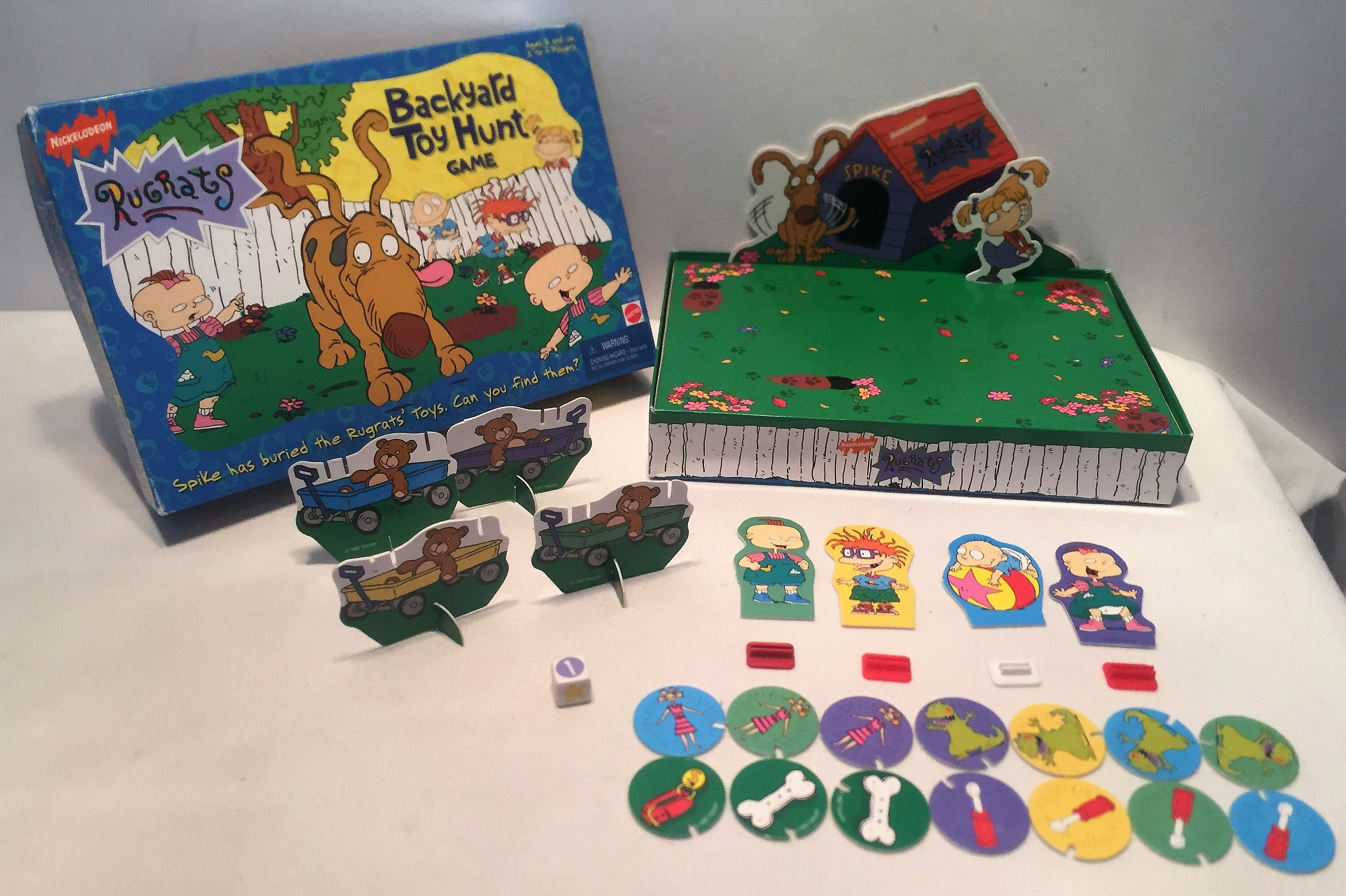 Backyard Nickelodeon nickelodeon rugrats backyard toy hunt board game 41420 mattel 1997