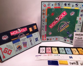 Monopoly Limited And Number Edition St. Loius Rams Champions Edition in Good Condition FREE SHIPPING