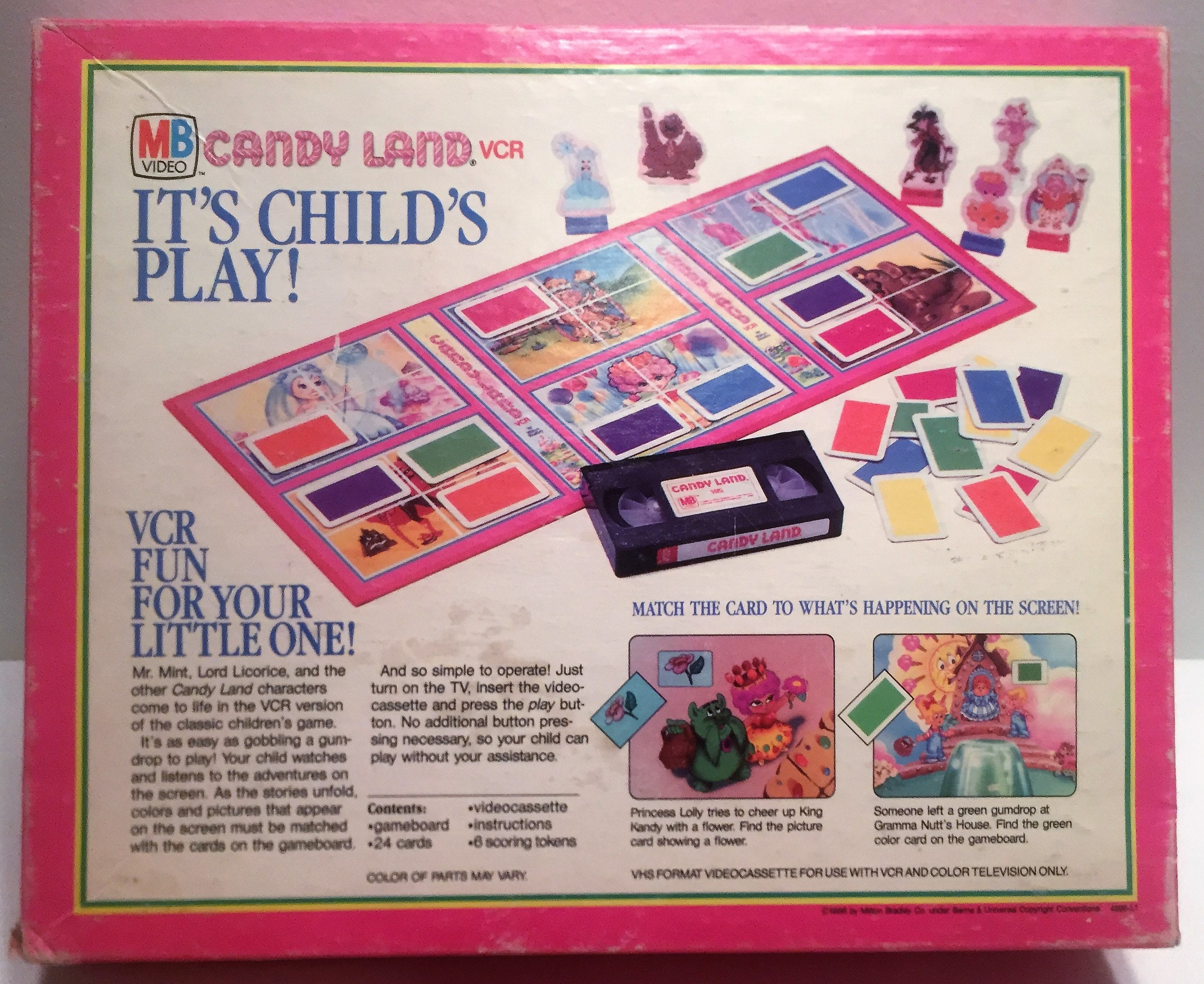 Candy Land VCR Board Game Milton Bradley Complete in Great | Etsy