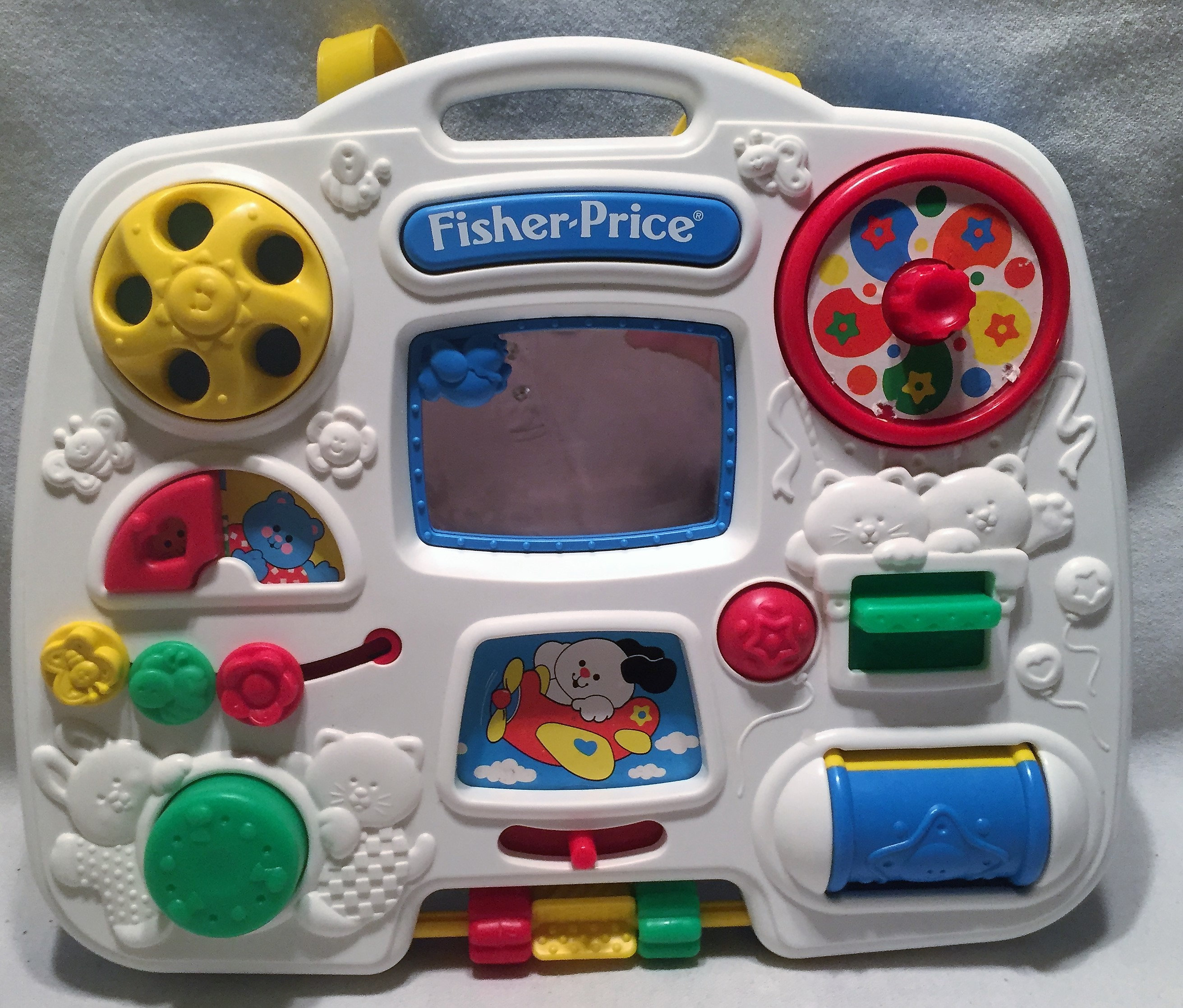 Fisher Price Crib Busy Box Hang Up Toy Free Shipping