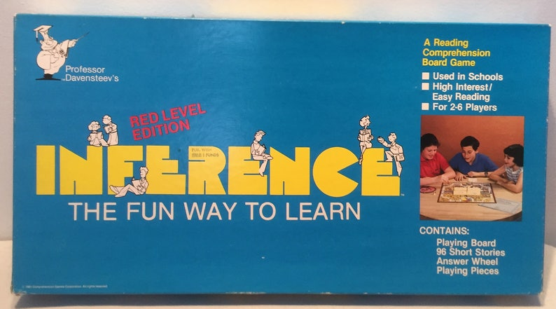 Professor Daventeevs Inference Board Game The Fun Way To Learn Complete  Great Condition FREE SHIPPING