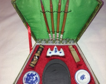 Vintage Chinese Calligraphy Set New FREE SHIPPING