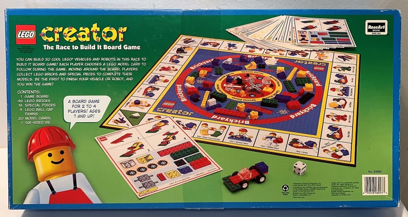 1999 Lego Creator The Race To Build It Board Game By Roseart Etsy