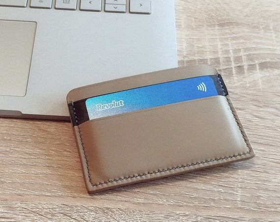 Mens wallet / Handmade leather cardholder