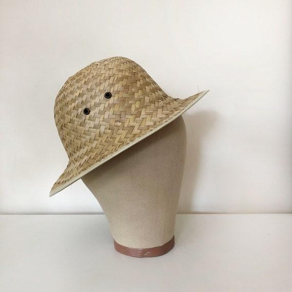 vintage woven natural straw hat | vintage hat | 9… - image 7