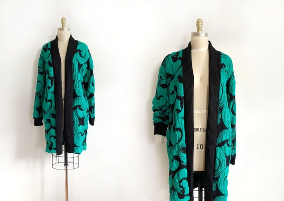 vintage Monto For Le Chois oversized knit cardigan