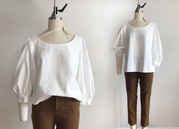 vintage ESCADA white blouse – 10 | 90s | vintage w