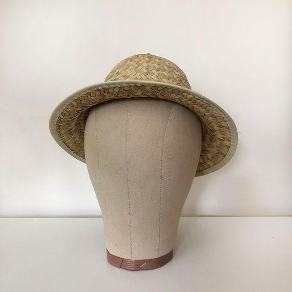 vintage woven natural straw hat | vintage hat | 9… - image 8