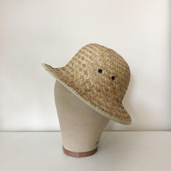 vintage woven natural straw hat | vintage hat | 9… - image 6