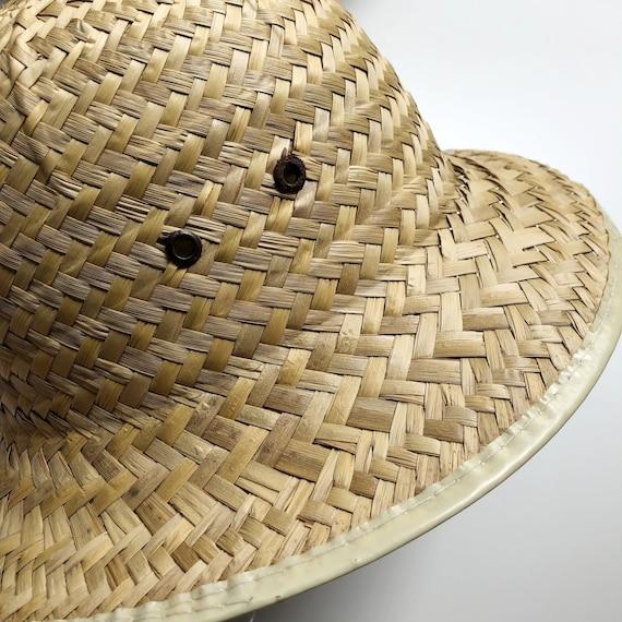 vintage woven natural straw hat | vintage hat | 9… - image 4