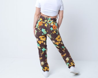 Vintage Moschino Floral Print Jeans Trousers Pants - S - UK 8/10