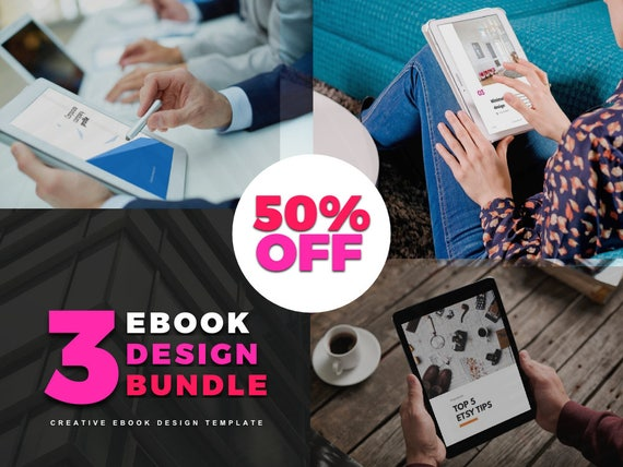 Ebook Template Bundle Discount Powerpoint Template Etsy