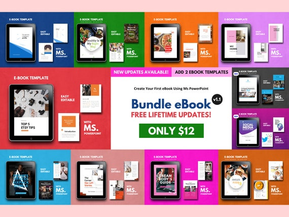 Bundle 11 Ebook Template 140 Pages V1 1 Powerpoint Template Bullet Journal Template Project Proposal Workbook Pre Made Ebook Modern