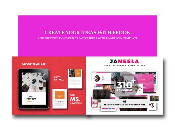 Ebook Template Fully Editable Powerpoint Template Etsy