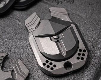 ONE New Titanium EDC Slider Gear Keychain Tool TC21 Pocket Toy Scarab Pushing Brand Relaxing Tool