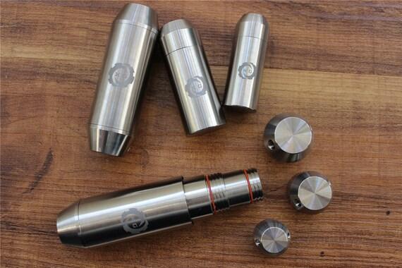 Waterproof Titanium Pill Box Case Bottle Batteries Storage Survival Kit