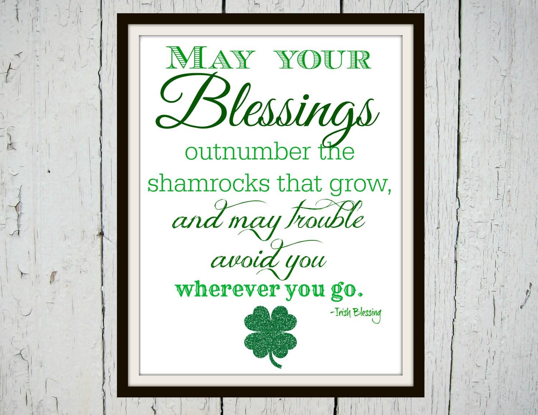Irish Blessing Irish Blessing Sign Irish Gifts Irish   Etsy