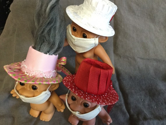 """Troll Doll Accessories for 4"""" Russ and 6"""" Russ Troll Dolls-Hats-Shoes-Face Masks"""