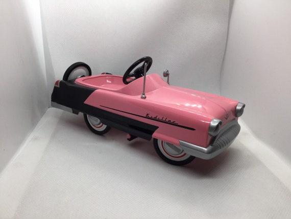 Hallmark 1956 Kidillac  Kiddie Car Classics Pink and Black Peddle Car Continental Kit Free Domestic Shipping