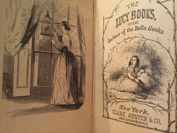 Rare Vintage Book Cousin Lucy at Play by Jacob Abbott author of the Rollo Books Free Domestic Shipping