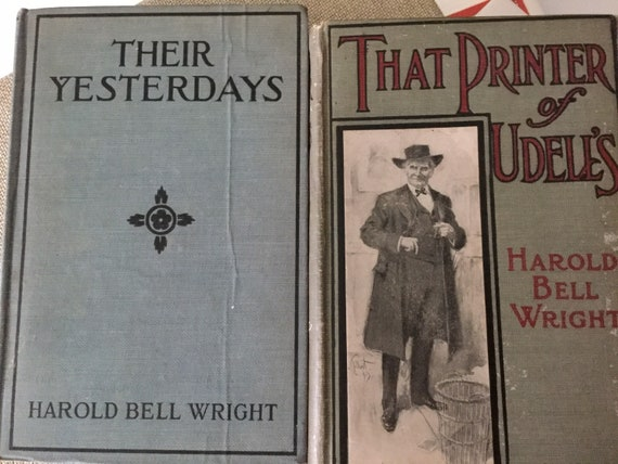 Their Yesterdays and That Printer of Udell's 2 book offering by Harold Bell Wright free Domestic Shipping