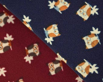 Owl Motif Print Fabric - 58 Inches Wide
