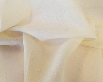 36 Inch Wide Muslin Fabric – Natural